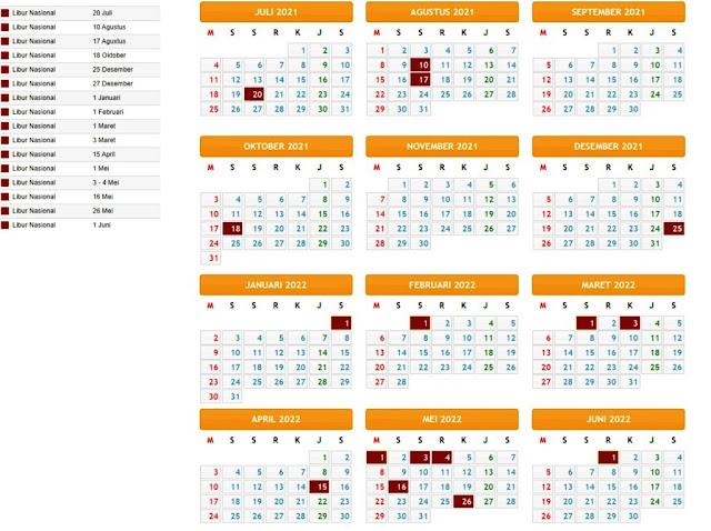 Terbaru Kalender Pendidikan Tahun Pelajaran 2021/2022 Provinsi Papua