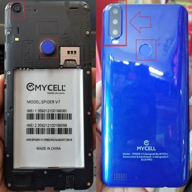 Mycell Spider V7 Flash File 100% Tested Firmware MT6580 7.1