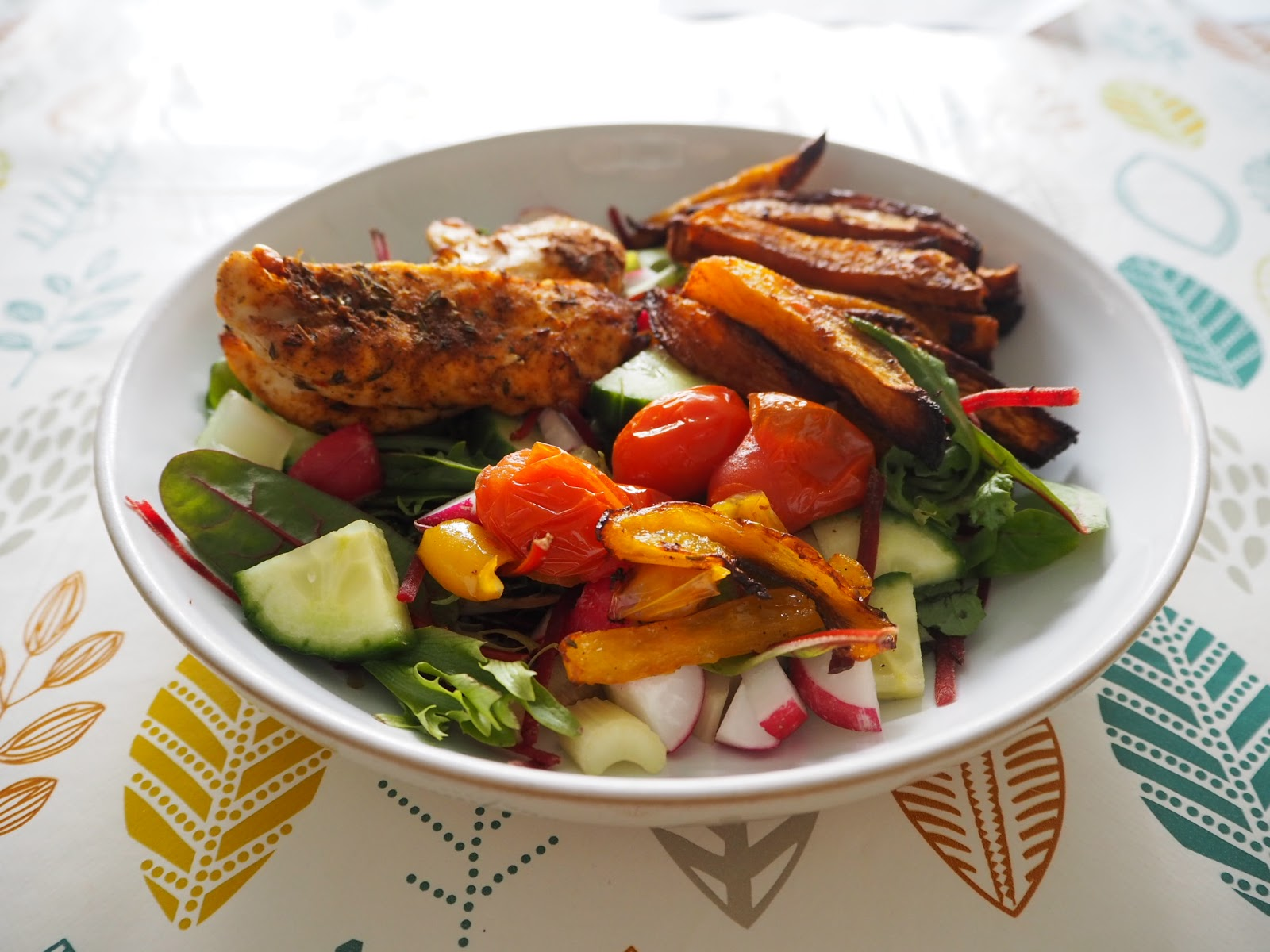 Cajun Chicken and salad
