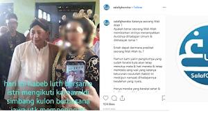 Istri Habib Luthfi Pakai Kebaya, Akun Salaf Ghuroba Nyinyir hingga Pertanyakan Kewalian Habib Luthfi