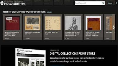 المجموعات الرقمية لمكتبة نيويورك العامة NYPL