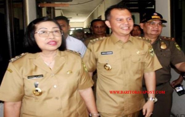 Hari Pertama Turun Kerja, Bupati dan Wakil Bupati Gunung Mas, Jaya S Monong-Efrensia LP Umbing Sidak Ke Sejumlah SOPD