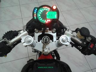 Speedometer Koso RX-2N di Kawasaki Ninja 150R