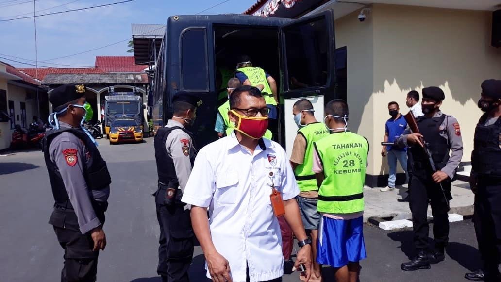 Usai Jalani Rapid Test, 11 Tahanan Polres Kebumen Dipindahkan ke Rutan