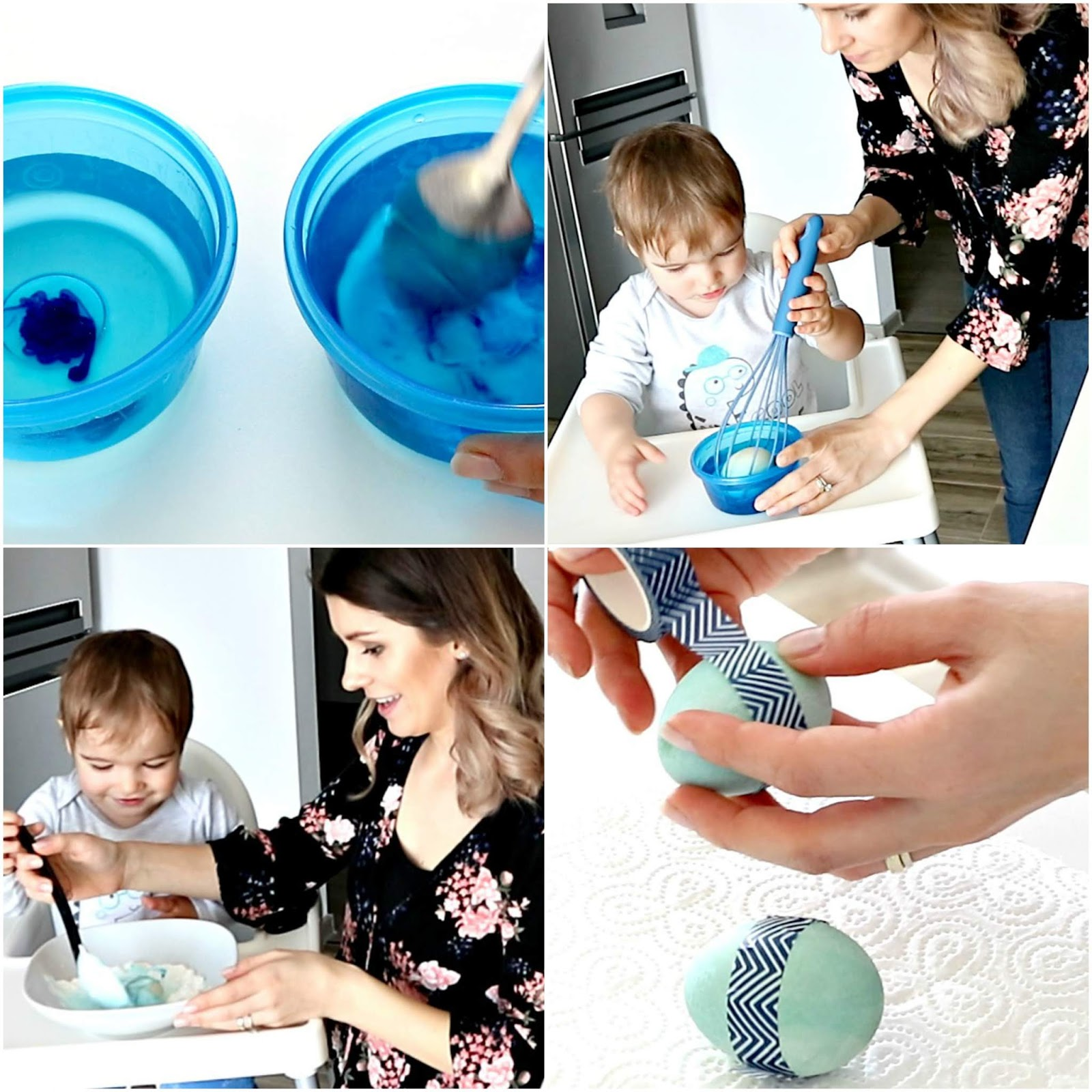 dye and decorate eggs with toddler