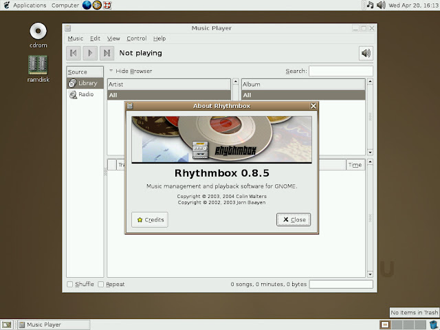 Rhytmbox Music Player