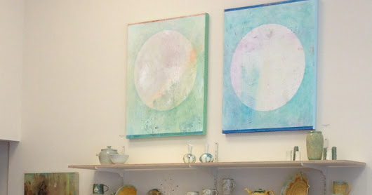 Jacqueline Steudler's paintings at the Designer Craft Shop, Halifax