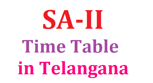 SA-II ( Annual Examinations ) Time Table in Telangana | Summative Assessment time Table in Telangana released by School Education Dept of Telangana State | Day wise Schedule for Annual Examinations in TS Anounced | Download SA-II Time Table in Telangana for VI to IX Classes sa-ii-summative-assessment-annual-examinations-time-table-in-telangana