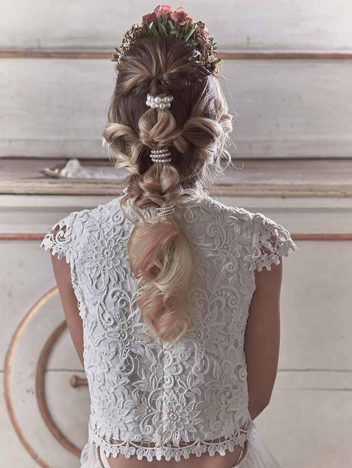 peinado para novia sencillo 2020
