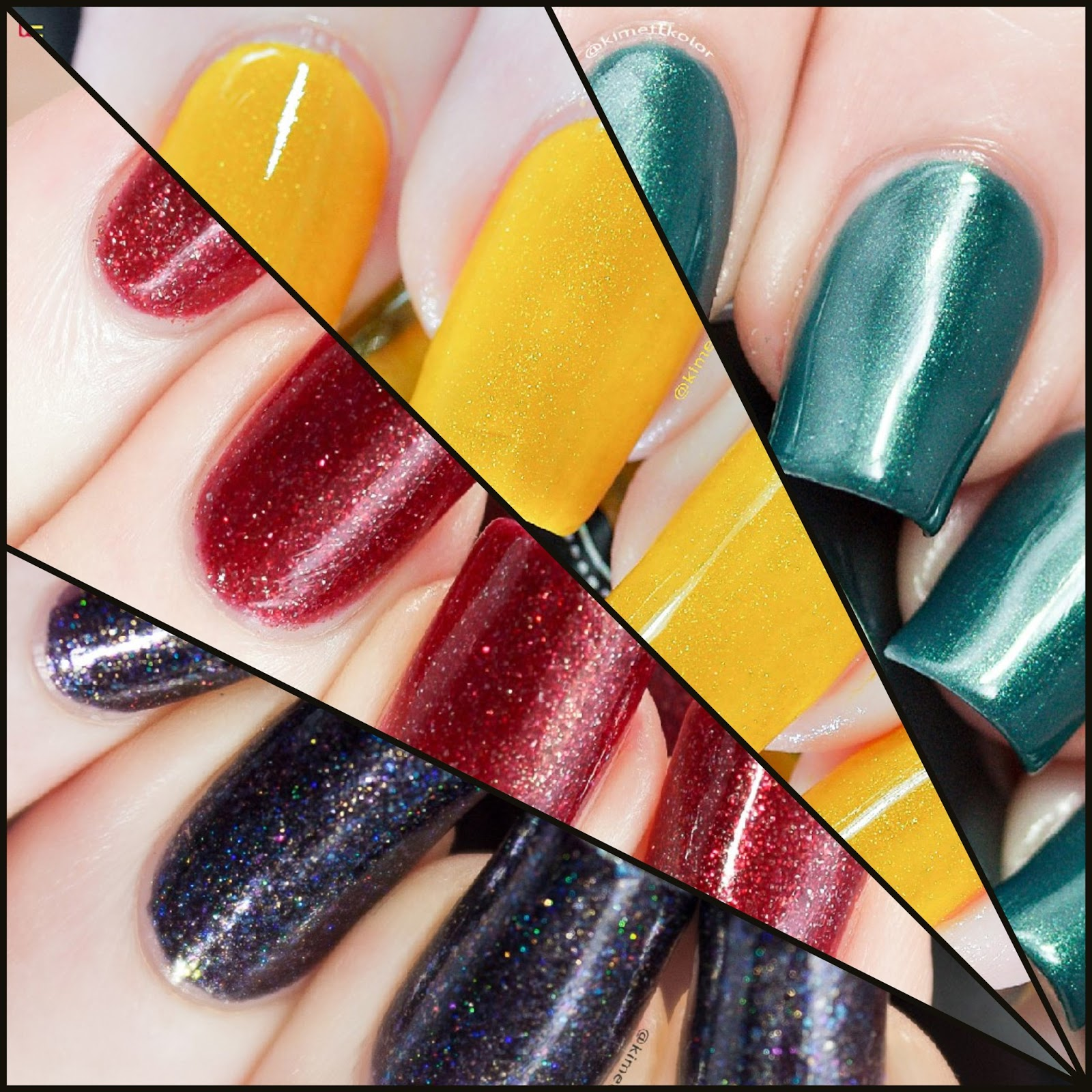 Kimett Kolor Polish Swatch Spotlight Collage October 2016
