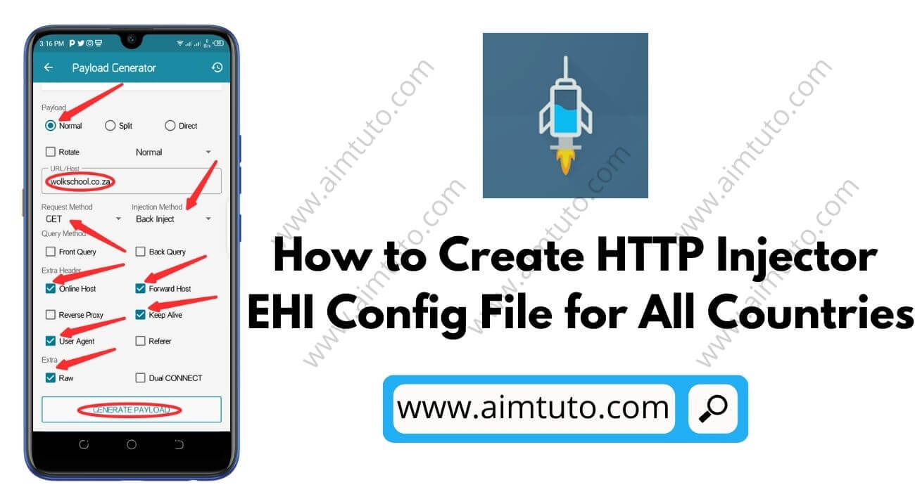 How to Create HTTP Injector EHI Config Files for Free Internet