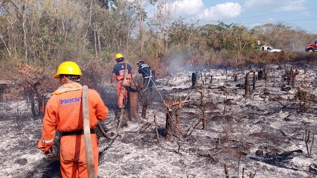 Intenso combate de incendios en el oriente, centro y sur del estado