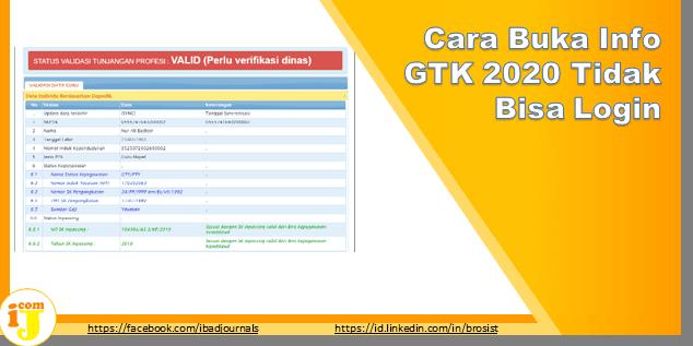 Cara Buka Info GTK 2020 Tidak Bisa Login