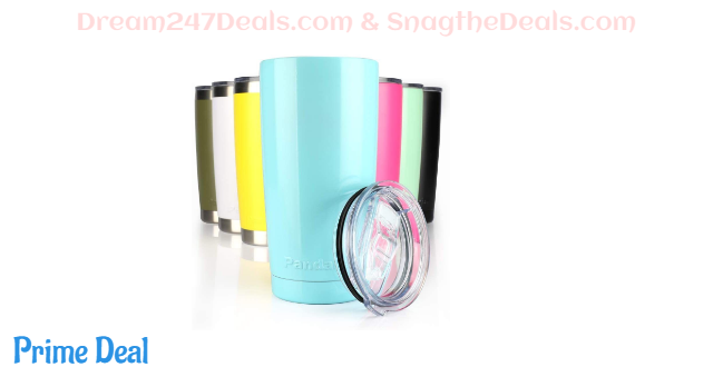 45%OFF Pandaria 20 oz Stainless Steel Vacuum Insulated Tumbler with Lid - Double Wall Travel Mug Water Coffee Cup for Ice Drink & Hot Beverage, Baby Blue