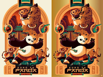 Kung Fu Panda Screen Print by Tom Whalen x Mad Duck Posters