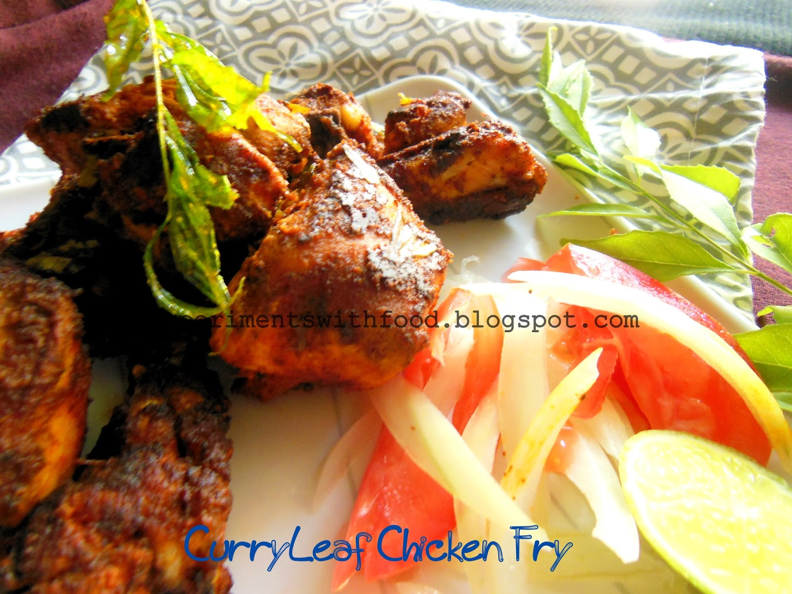 My Experiments With Food: Kerala Style Curry Leaf Fried Chicken