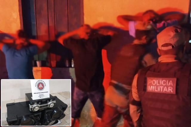 Polícia flagrar festa clandestina, som e bebidas no Sudoeste da Bahia