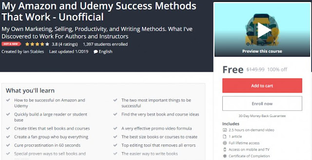 [100% Off] My Amazon and Udemy Success Methods That Work - Unofficial| Worth 149,99$
