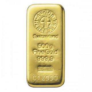 Lingote de Oro 500 Gramos