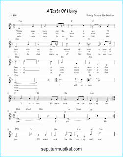 chord a taste of honey lagu jazz standar