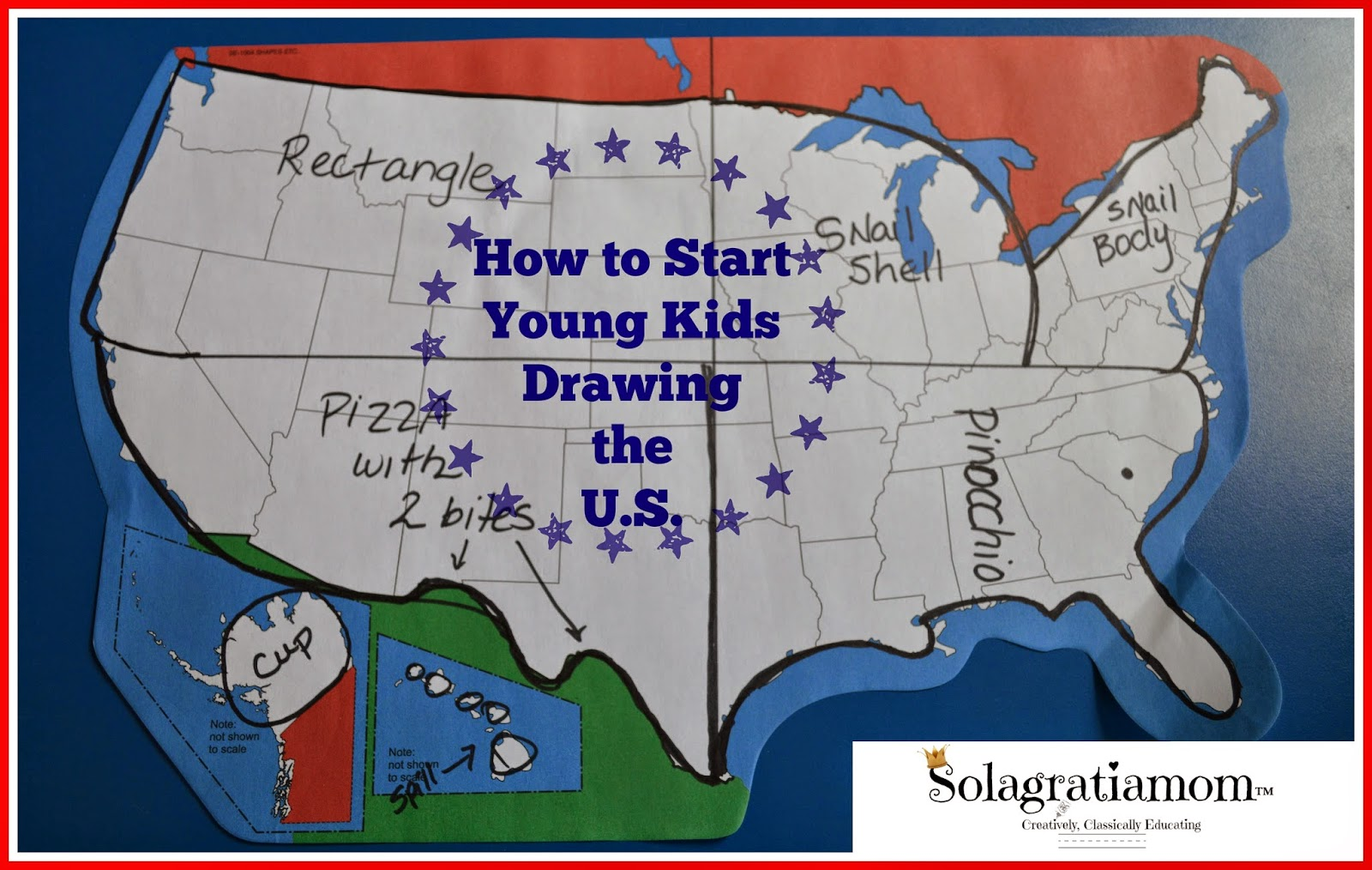 solagratiamom how to start young kids drawing the u.s.
