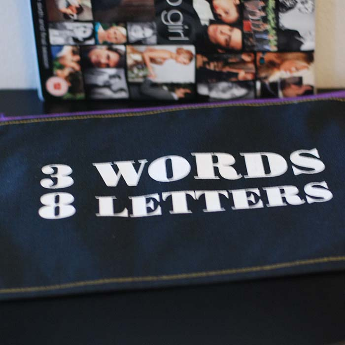 three words eight letters recycled bag 25288 | RJB 3words8letters front 03