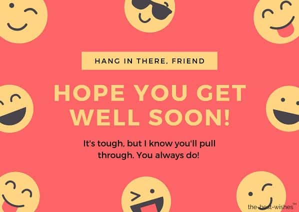 hope you get well soon buddy msg