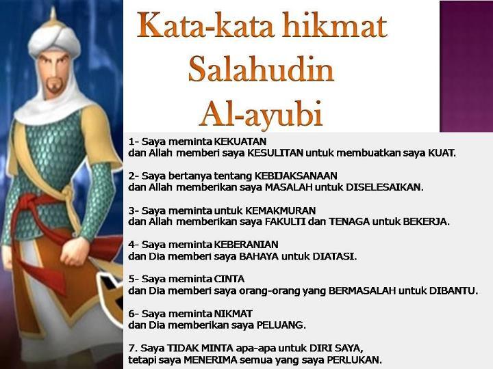 .: Kata-kata hikmat Salahudin Al-Ayubi