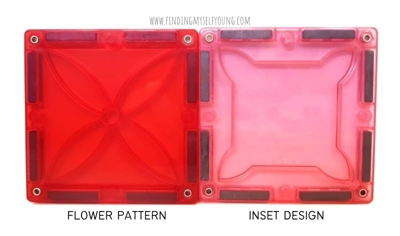 magblox flower magnetic tiles and inset design