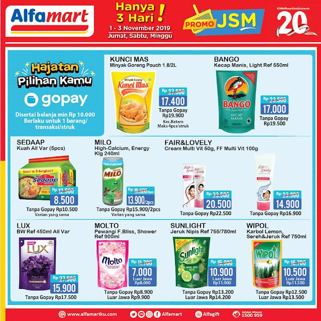 Alfamart Promo Katalog Jsm Periode 01 03 November 2019 Promosi247 Tempatnya Info Promosi Diskon Terbaru