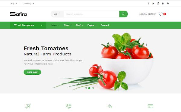 Safira v1.0.7 - Food & Organic WooCommerce WordPress Theme