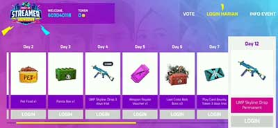 Cara Vote FF Streamer Showdown