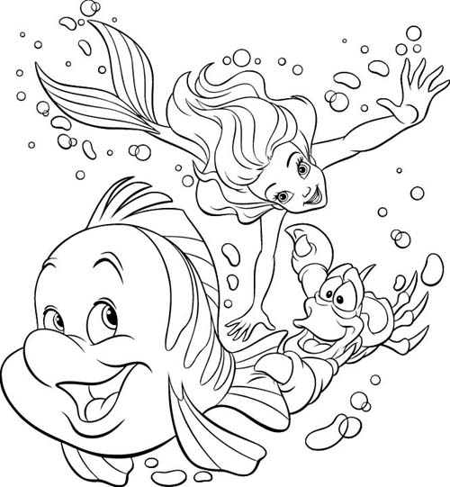 Ariel And Ferinds Pictures For Kids To Draw