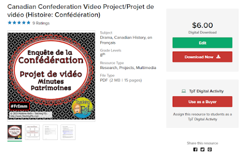 Canadian Confederation Video Assignment - Use digital tool