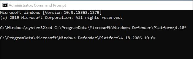 انتقل إلى مجلد Microsoft Defender Antivirus