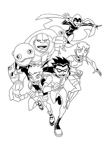 Laminas Para Colorear Coloring Pages Jovenes Titanes Teen Titans