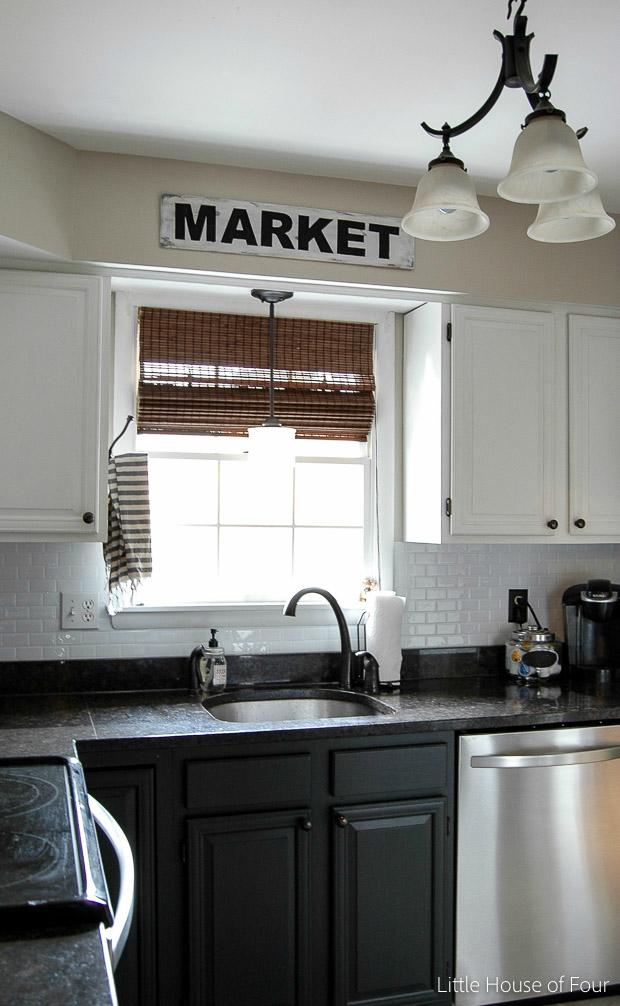 inexpensive modern farmhouse kitchen