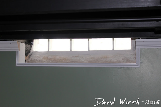 wrap glass block window, grout, how to, install, basement, spacing
