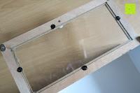 Tür innen: Küchenschrank Wandschrank Hängeschrank 4 Haken 4 Schubladen 2 Glastüren Schrank