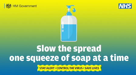 slow the spread with a drop of soap uk government