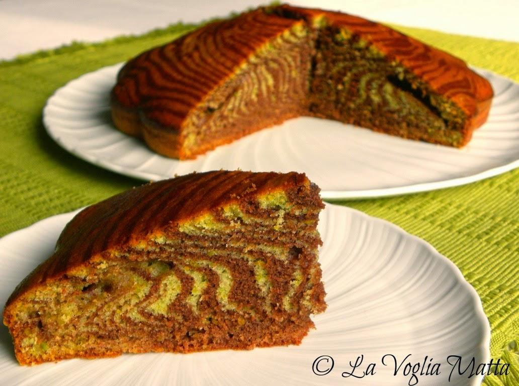 torta zebrata al cacao e pistacchio