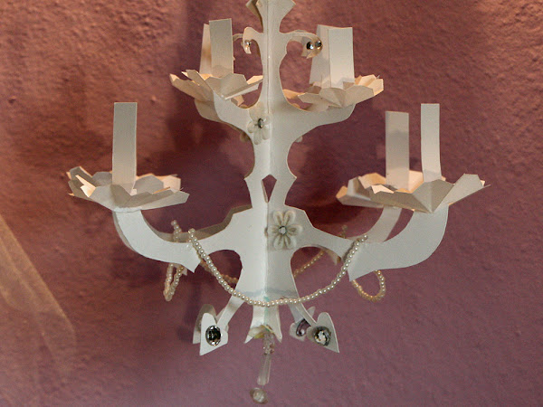 Elegant Paper Chandelier Tutorial