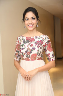 Ritu Varma smiling face Cream Anarkali dress at launch of OPPO New Selfie Camera F3 ~  Exclusive 054.JPG