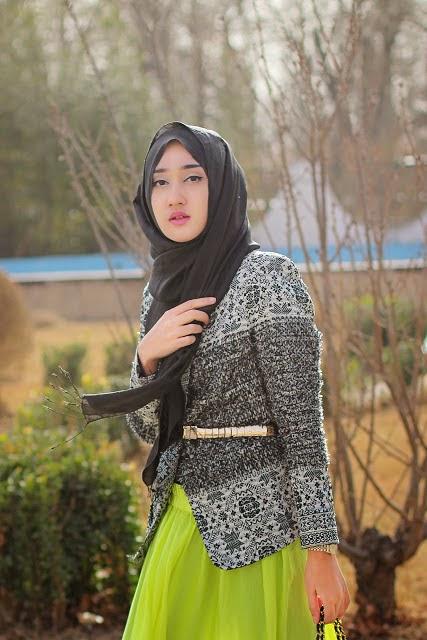 Foto Desain Baju Muslim Blazer Kerja Modern