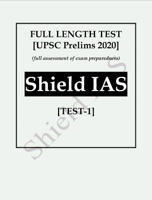 Rapid Pratice Test- 1 (UPSC Prelims 2020) : For UPSC Exam PDF Book