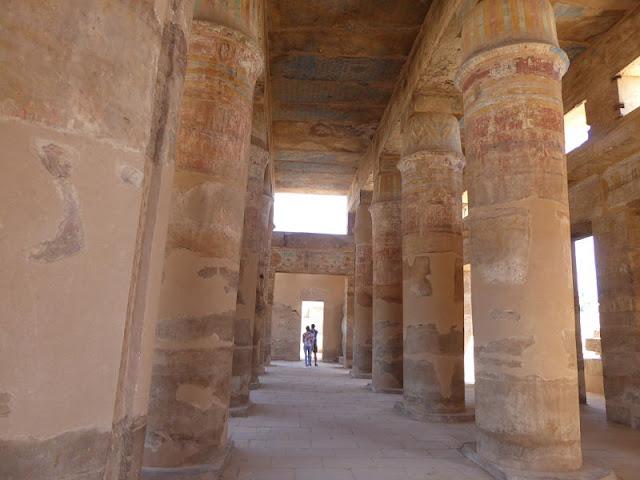 la sala delle feste di Thutmose III