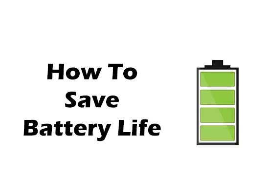 How to save battery life