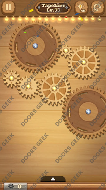 Fix it: Gear Puzzle [TapeLine] Level 33 Solution, Cheats, Walkthrough for Android, iPhone, iPad and iPod