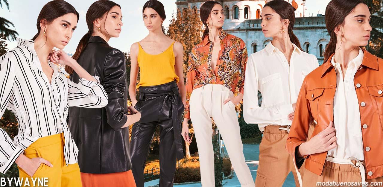 Moda casual primavera verano 2020. Delucca colección primavera verano 2020. Camisas, pantalones, minifaldas, camperas, remeras primavera verano 2020.