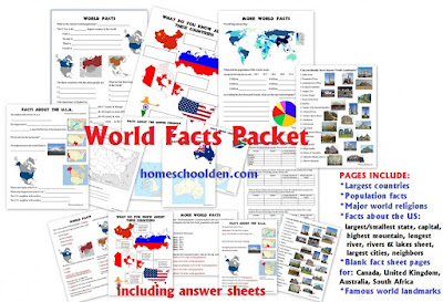 http://homeschoolden.com/2015/07/27/world-facts-packet/